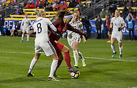 Columbus, Ohio - Thursday March 01, 2018: Alex Morgan during a 2018 SheBelieves Cup match between the women's national teams of the United States (USA) and Germany (GER) at MAPFRE Stadium.