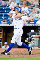 Russ Canzler #37 of the Durham Bulls follows through on his swing against the Charlotte Knights at Durham Bulls Athletic Park on August 28, 2011 in Durham, North Carolina.   (Brian Westerholt / Four Seam Images)
