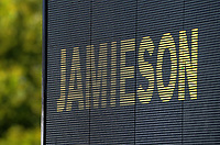 NZ bowler Kyle Jamieson's name on the big screen during day four of the second International Test Cricket match between the New Zealand Black Caps and Pakistan at Hagley Oval in Christchurch, New Zealand on Wednesday, 6 January 2021. Photo: Dave Lintott / lintottphoto.co.nz