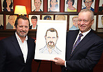 Rob Ashford and Max Klimavicius during the  Rob Ashford portrait unveiling for the Sardi's Wall of Fame on October 10, 2018 at Sardi's Restaurant in New York City.