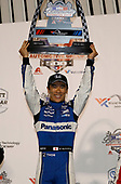 Takuma Sato, Rahal Letterman Lanigan Racing Honda celebrates on the podium