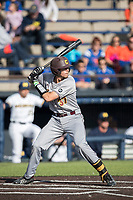 Central Michigan Chippewas catcher Evan Kratt (37) at bat against the Michigan Wolverines on May 9, 2017 at Ray Fisher Stadium in Ann Arbor, Michigan. Michigan defeated Central Michigan 4-2. (Andrew Woolley/Four Seam Images)