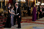 Spanish Royals attend a Gala Dinner in honour of President of Chile Michelle Bachelet at The Royal Palace in Madrid. October 29, 2014. (Jose Luis Cuesta/POOL/ALTERPHOTOS)