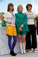 """CANNES, FRANCE - JULY 14:  Vesela Kazakova, Maria Bakalova, Mina Mileva  at the """"Women Do Cry"""" photocall during the 74th annual Cannes Film Festival on July 14, 2021 in Cannes, France. <br /> CAP/GOL<br /> ©GOL/Capital Pictures"""