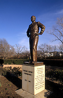 Statue of President Dwight Eisenhower in hometown, Denison Texas