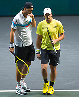 Rotterdam, The Netherlands, 15 Februari 2020, ABNAMRO World Tennis Tournament, Ahoy,<br /> Henri Kontinen (FIN) and Jan-Lennard Struff (GER).<br /> Photo: www.tennisimages.com