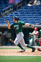Daytona Tortugas third baseman Taylor Sparks (25) bats during a game against the Clearwater Threshers on April 20, 2016 at Bright House Field in Clearwater, Florida.  Clearwater defeated Daytona 4-2.  (Mike Janes/Four Seam Images)