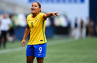 Seattle, WA - Thursday July 27, 2017: Debinha during a 2017 Tournament of Nations match between the women's national teams of the Japan (JAP) and Brazil (BRA) at CenturyLink Field.