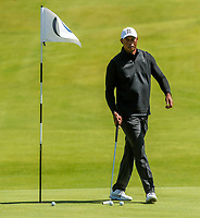 140719 | The 148th Open - Sunday Practice<br /> <br /> Tiger Woods on the 12th green during practice for the 148th Open Championship at Royal Portrush Golf Club, County Antrim, Northern Ireland. Photo by John Dickson - DICKSONDIGITAL