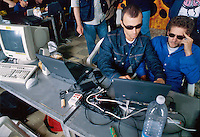 "- Milan, ""hackers"" gathering in a squatted Social Center<br /> <br /> - Milano, raduno di ""hackers""  in un Centro Sociale occupato"