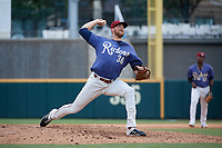 Frisco RoughRiders pitcher Blake Bass (36) during a Texas League game against the Midland RockHounds on May 21, 2019 at Dr Pepper Ballpark in Frisco, Texas.  (Mike Augustin/Four Seam Images)