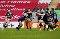 6th February 2021; Mattoli Woods Welford Road Stadium, Leicester, Midlands, England; Premiership Rugby, Leicester Tigers versus Worcester Warriors; Jasper Wiese of Leicester Tigers looks to break through the Worcester Warriors defence