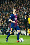 Andres Iniesta Lujan of FC Barcelona in action during the UEFA Champions League 2017-18 Round of 16 (2nd leg) match between FC Barcelona and Chelsea FC at Camp Nou on 14 March 2018 in Barcelona, Spain. Photo by Vicens Gimenez / Power Sport Images