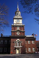 Independence Hall, Philadelphia, Pennsylvania, PA, Independence Hall at Independence National Historical Park in downtown Philadelphia.