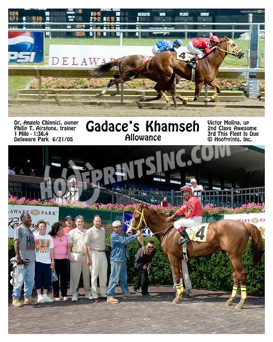 Gadace's Khamseh winning at Delaware Park on 6/21/05