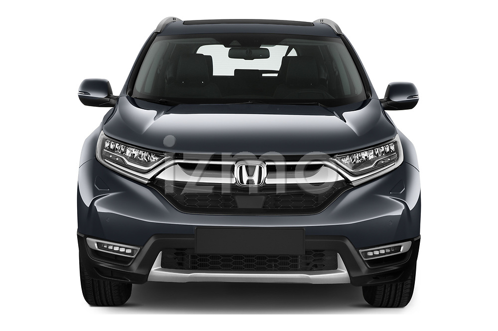 Car photography straight front view of a 2020 Honda CR-V-Hybrid Executive-4wd 5 Door SUV Front View