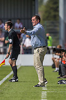 Martin Allen (Manager) of Barnet shouts instructions to his players during the Friendly match between Barnet and Crystal Palace at The Hive, London, England on 11 July 2015. Photo by David Horn.