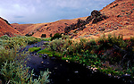 The Powder River, a National Wild and Scenic River, Wanders between Richland and Baker City along Highway 86, in Oregon.  Part of the Hells Canyon Scenic Byway