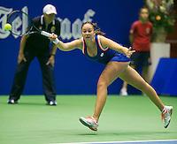 21-12-13,Netherlands, Rotterdam,  Topsportcentrum, Tennis Masters, semifinal, Lesley Kerkhove(NED)<br /> Photo: Henk Koster