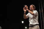 Spanish politician Pablo Iglesias, leader of Unidos Podemos party, after the results of the national elections at plaza Reina Sofia, Spain. 26,06,2016. (ALTERPHOTOS/Rodrigo Jimenez)