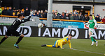 09.02.2020 BSC Glasgow v Hibs: Ryan Marshall saves from Paul McGinn