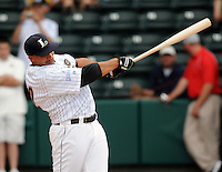 Infielder Kody Hinze (32) of the Lexington Legends hits in the home run derby at the 2010 South Atlantic League All-Star Game on Tuesday, June 22, 2010, at Fluor Field at the West End in Greenville, S.C. Photo by: Tom Priddy/Four Seam Images