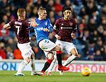 03.04.2019 Rangers v Hearts: Steven Davis with Oliver Bozanic and Sean Clare