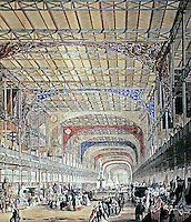 Crystal Palace--historical photograph. Great Exposition of 1851. Designed by Joseph Paxton.