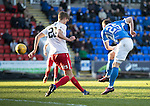 St Johnstone v Kilmarnock…25.02.17     SPFL    McDiarmid Park<br />Chris Kane's shot is deflected over<br />Picture by Graeme Hart.<br />Copyright Perthshire Picture Agency<br />Tel: 01738 623350  Mobile: 07990 594431