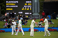 NZ's Kane Williamson and Daryl Mitchell during day three of the second International Test Cricket match between the New Zealand Black Caps and Pakistan at Hagley Oval in Christchurch, New Zealand on Tuesday, 5 January 2021. Photo: Dave Lintott / lintottphoto.co.nz