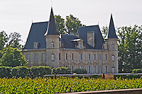 The Chateau Pichon Longueville Baron and vineyard Pauillac Medoc Bordeaux Gironde Aquitaine France