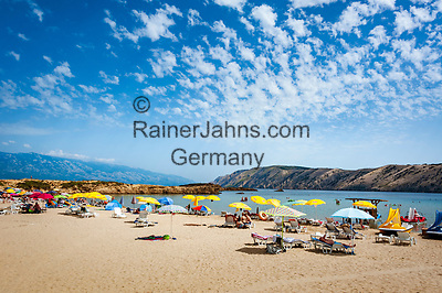 Croatia, Kvarner Gulf, Rab Island, Lopar: Paradiso Beach   Kroatien, Kvarner Bucht, Insel Rab, Lopar: Paradiso Beach