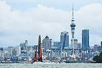 16th March 2021; Waitemata Harbour, Auckland, New Zealand;  Emirates Team New Zealand ahead of racing on Day 6 of the America's Cup presented by Prada.