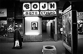 Belgrade, Serbia<br /> October 2000<br /> <br /> A photo studio is proudly displays the portrait of Vojislav Kostunica, who became the acting President of Yugoslavia after protesters defended the vote.