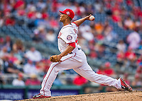20 September 2015: Washington Nationals pitcher Joe Ross on the mound against the Miami Marlins at Nationals Park in Washington, DC. The Nationals defeated the Marlins 13-3 to take the final game of their 4-game series. Mandatory Credit: Ed Wolfstein Photo *** RAW (NEF) Image File Available ***
