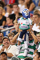 Santos Laguna fans. The New England Revolution defeated Santos Laguna 1-0 during a Group B match of the 2008 North American SuperLiga at Gillette Stadium in Foxborough, Massachusetts, on July 13, 2008.
