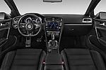 Stock photo of straight dashboard view of a 2014 Volkswagen Golf R 5 Door Hatchback 4WD Dashboard