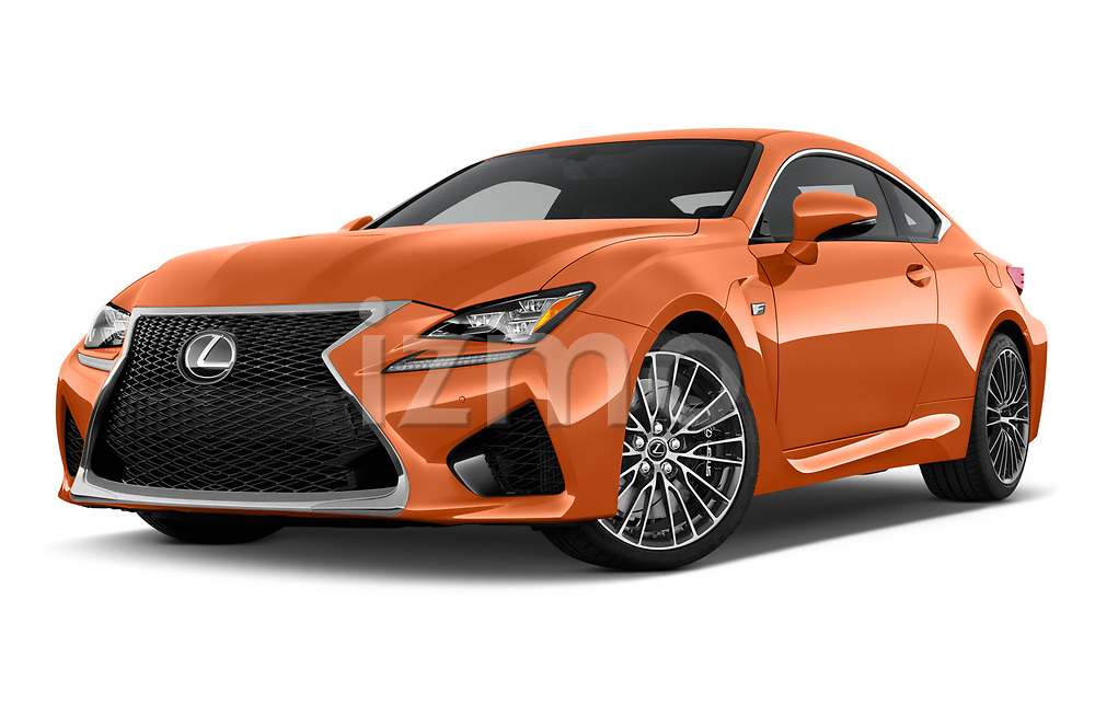 Stock pictures of low aggressive front three quarter view of 2017 Lexus RC F-GT 2 Door Coupe Low Aggressive