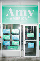 Amy Klobuchar - Husband and daughter drop by campaign office - Manchester NH - 11 Feb 2020