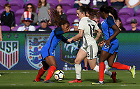 Orlando City, FL - Wednesday March 07, 2018: Sara Däbritz during a 2018 SheBelieves Cup match between the women's national teams of Germany (GER) and France (FRA) at Orlando City Stadium.