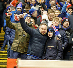 06.02.2019:Rangers fans at Pittodrie