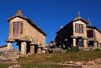 Espigueiros (Graneries) Soaio, Peneda-Geres National Park, Portugal