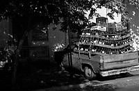 01.2010 Santiago de chile (Chile)<br /> <br /> Camionette de bouteilles.<br /> <br /> Van of bottles.