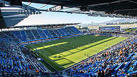 SAN JOSE, CA - JUNE 26: PalPal Park during a game between Los Angeles Galaxy and San Jose Earthquakes at PayPal Park on June 26, 2021 in San Jose, California.