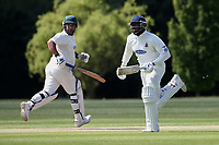 M Westfield (R) and A Freed add to the Hornchurch total during Billericay CC vs Hornchurch CC (batting), Hamro Foundation Essex League Cricket at the Toby Howe Cricket Ground on 12th June 2021