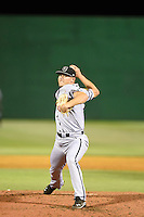 ***Temporary Unedited Reference File***Jacksonville Suns relief pitcher Tyler Higgins (35) during a game against the Jackson Generals on May 4, 2016 at The Ballpark at Jackson in Jackson, Tennessee.  Jackson defeated Jacksonville 11-6.  (Mike Janes/Four Seam Images)