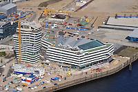 Marco Polo Tower : EUROPA, DEUTSCHLAND, HAMBURG, (EUROPE, GERMANY), 16.04.2009: Marco PoloTower, Unilever, Hoch Tief, Hafencity, Hafen, City, Hamburg, Baustelle,  Hochbau, Bebauung,  Stadtplanung,  Planung, Buero, Wohn, Haus,  Bau, Konjunktur, Uebersicht, Aufwind-Luftbilder, Luftbild, Luftaufname, Luftansicht.c o p y r i g h t : A U F W I N D - L U F T B I L D E R . de.G e r t r u d - B a e u m e r - S t i e g 1 0 2, .2 1 0 3 5 H a m b u r g , G e r m a n y.P h o n e + 4 9 (0) 1 7 1 - 6 8 6 6 0 6 9 .E m a i l H w e i 1 @ a o l . c o m.w w w . a u f w i n d - l u f t b i l d e r . d e.K o n t o : P o s t b a n k H a m b u r g .B l z : 2 0 0 1 0 0 2 0 .K o n t o : 5 8 3 6 5 7 2 0 9.V e r o e f f e n t l i c h u n g  n u r  m i t  H o n o r a r  n a c h M F M, N a m e n s n e n n u n g  u n d B e l e g e x e m p l a r !.