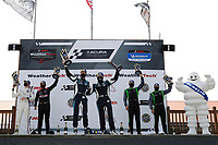 #35 Riley Motorsports Mercedes-AMG GT GT4, GS: James Cox, Dylan Murry, #60 KOHR MOTORSPORTS Ford Mustang GT4, GS: Nate Stacy, Kyle Marcelli, #39 CarBahn with Peregrine racing Audi R8 GT4, GS: Tyler McQuarrie, Jeff Westphal, podium