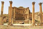 Ninfeo entrance from Cardo Maximus in Jerash