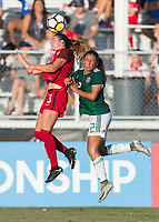Bradenton, FL - Sunday, June 12, 2018: Kate Wiesner, Reyna Reyes during a U-17 Women's Championship Finals match between USA and Mexico at IMG Academy.  USA defeated Mexico 3-2 to win the championship.